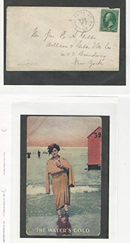 United States, Postage Stamp, Cover University of Virginia & Beach Postcard