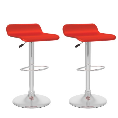 UPC 776069999219, CorLiving Curved Adjustable Faux Leather Barstool, Set of 2, Multiple Colors