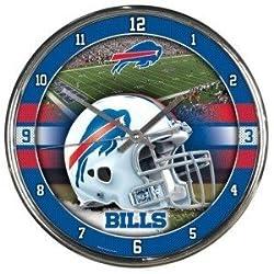 Buffalo Bills Round Chrome Wall Clock