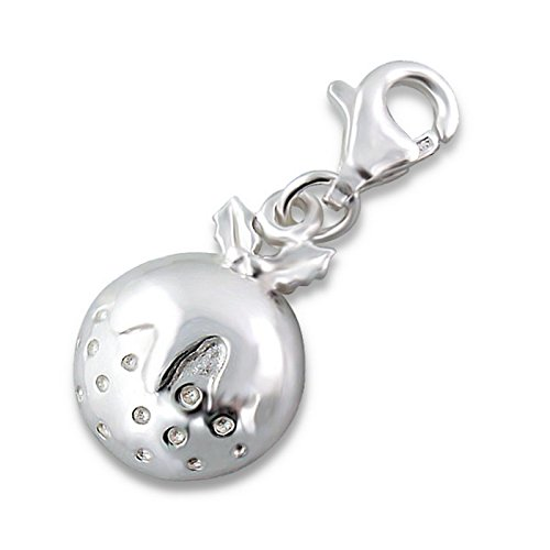 Pudding Charm (Christmas Pudding Charm With Lobster Sterling Silver)