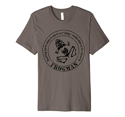 Frogman T-shirt (subdued / distressed) (Tshirt Frogman)