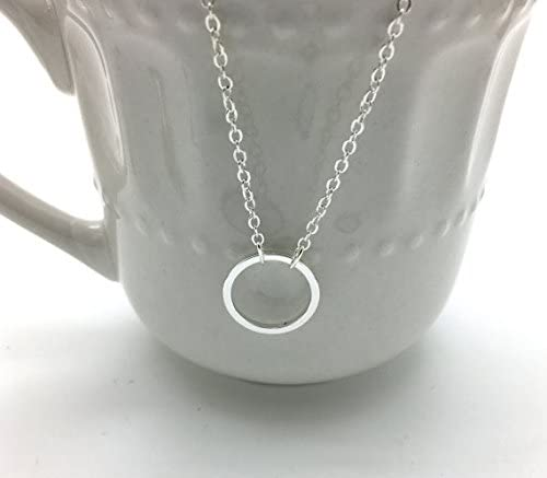 Eternity Ring Necklace With 16-18 adjustable chain. Religious Gift Eternity Ring Necklace Silver