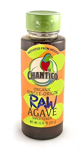 Chantico Agave Sweetener (Raw Agave, 2 Pack of 11.75oz Bottles) Organic Natural Sugar Substitute with a Low Glycemic Index and a Premium Food Taste - Stevia Alternative That Can Be ()