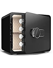 Fireproof Safe,Home Safe,Digital Keyboard Safe,Oversized Safe with Keyboard Lock and Key,Sturdy and Stable,Suitable for Storing Cash,Jewelry,Important Documents,Suitable for Home/Office.