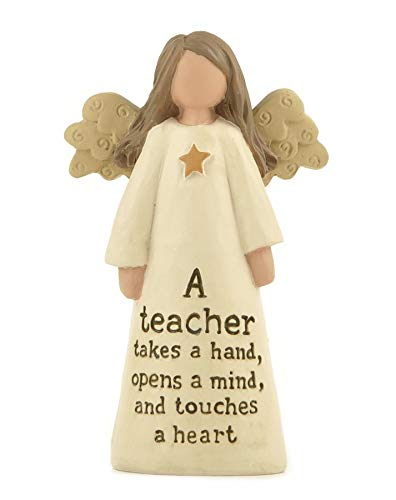 dise/ño de /ángel con texto en ingl/ésA Teacher Adorno para profesor