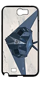 Battleplane military television HD image case for Samsung Galaxy Note 2 N7100 black + Card Sticker