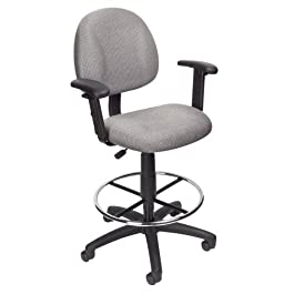 Boss Office Products Ergonomic Works Drafting Chai...
