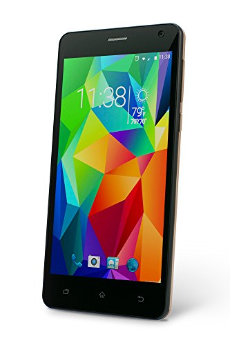 SLIDE Dual SIM 5'' Android 6.0 Unlocked Smartphone, Quad Core 1.3GHz Processor, 8MP Camera, Worldwide Coverage - Gold (SP5033) by SLIDE