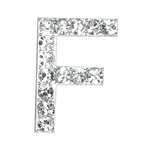 20 mm Pack of 5 Club Green F Diamant/é Letter Silver