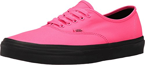 Vans Authentic Black Outsole Fashion Sneakers,Neon Pink/Black, 4 Men/5.5 Women (Vans Woman Neon)