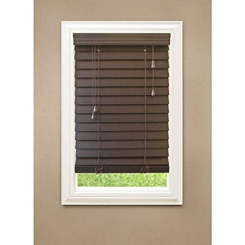 Espresso 2-1/2 in. Premium Faux Wood Blind, 72 in. Length (Price Varies by ()