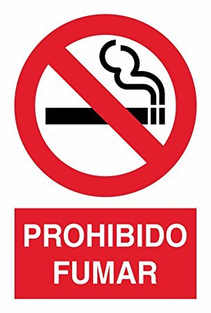 Cartel 40x30 Prohibido fumar: Amazon.es: Bricolaje y ...