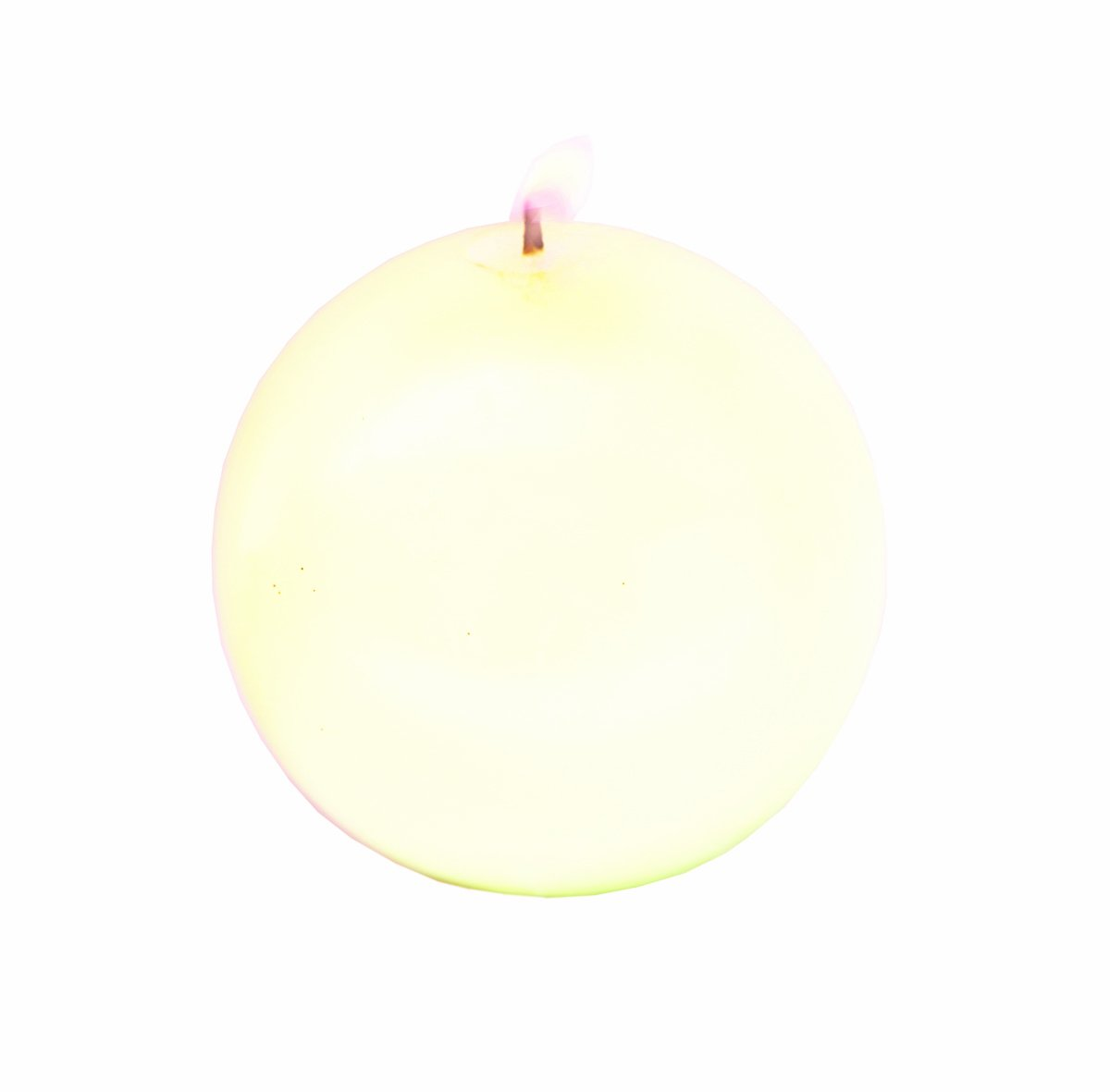 Biedermann Round-Shaped 4-Inch Diameter Ball Candles, Cream, Set of 6 by Biedermann & Sons