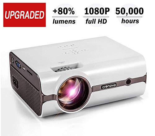 Crenova XPE496 Upgraded Projector (+80%...