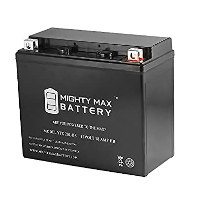 YTX20L-BS Battery for Yamaha 400 YFM40FB Big Bear '00-'12 - Mighty Max Battery brand product
