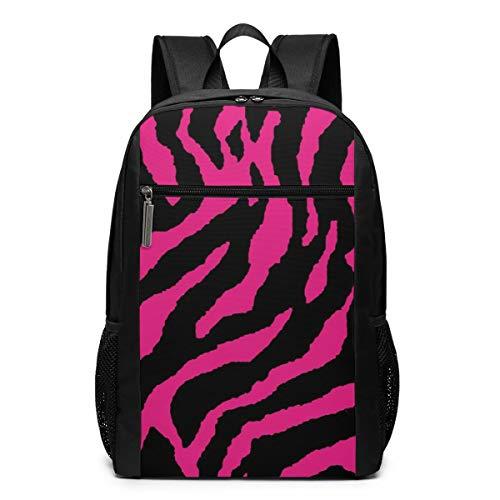 Multifunctional Backpack Pink And Black Zebra Print School Backpacks Laptop Bag Business Bag Suitable For Business