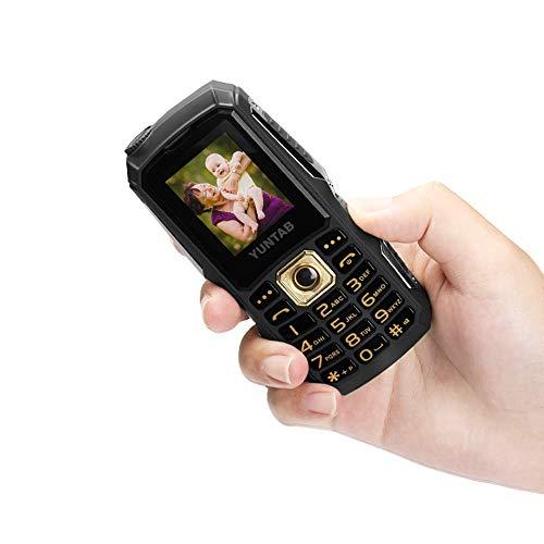 YUNTAB C12 Easy to Use Cell Phone for Seniors & Kids,Unlocked 2G,Big Button Big Volume Big Fonts,Long-time Standby, Anti-Fall(Black)