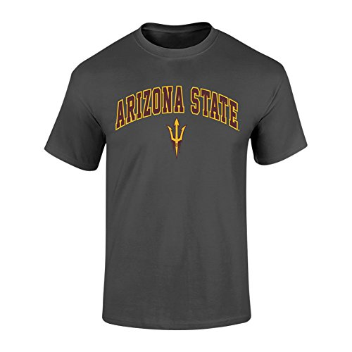 - Elite Fan Shop Arizona State Sun Devils Tshirt Arch Heather Gray - XL - Charcoal