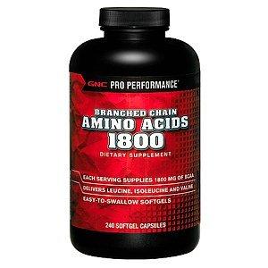 GNC Pro Performance ® Acides aminés à chaîne ramifiée 1800 240 capsules molles