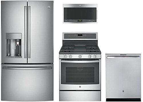 GE Profile Stainless Steel Package With PFE28PSKSS 36