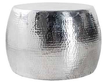 Casa Padrino Luxus Couchtisch Silber 60 Cm Aluminium Wohnzimmer