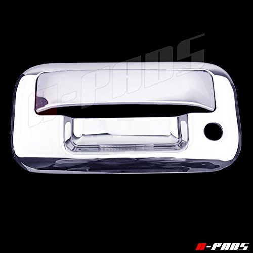 A-PADS Chrome Tailgate Cover for Ford EXPLORER SPORT TRAC 2007-2009 & Lincoln MARK LT 2004-07 - WITH Keyhole