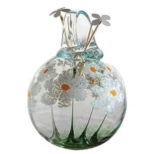 Kitras Art Glass Decorative Blossom Scent, 4-Inch, Friendship, Cucumber Melon