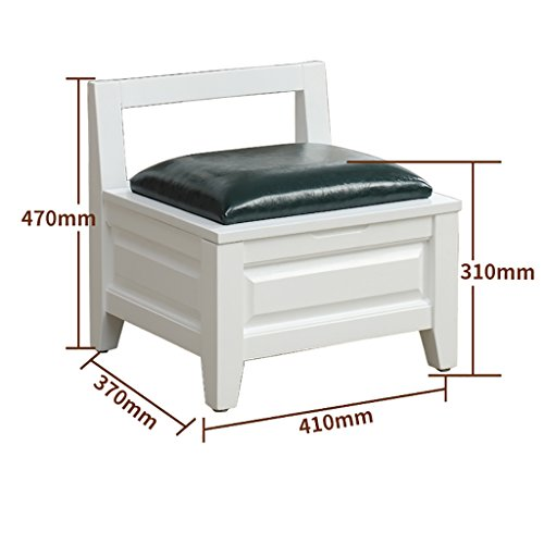 Storage Stool Wooden Bench Small Stool Backrest Adult Home Solid Wood Stool Shoe Racks (Color : D) from Shoe Racks H