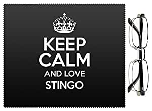 Negro Keep Calm And Love STINGO lente gamuza color 3013