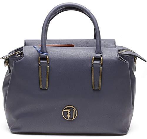 Borsa Trussardi Blu Donna Bag Blue Satchel A dark X w H L Rabarbaro Jeans Cm Mano 32x21x14 g4qBIrwg