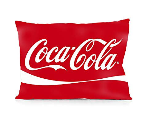 Coca Cola Pillowcase Size 20x30 Inches Two Sides Print Zipper ()
