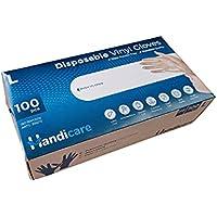 Handicare Disposable Vinyl Gloves 100 Pack Powder Free