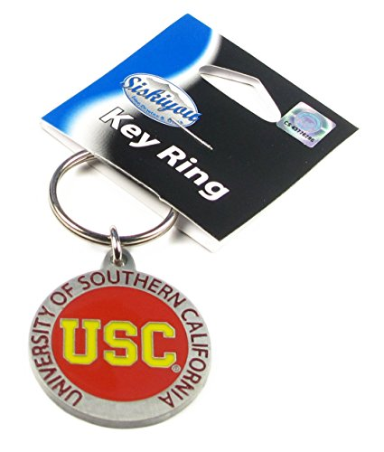 (College Team Logo Key Ring - USC)