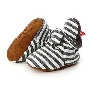 TMEOG Bottines Bébé Garçon Fille, Hiver Chaud Semelle Douce Bottes de Neige Berceau Chaussures Tout-Petits Premiers Pas Enfant Bottines Chaussures Boots 3