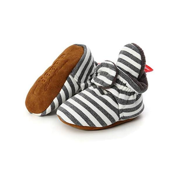 TMEOG Bottines Bébé Garçon Fille, Hiver Chaud Semelle Douce Bottes de Neige Berceau Chaussures Tout-Petits Premiers Pas Enfant Bottines Chaussures Boots 1