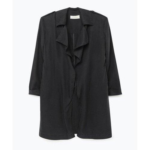 Américan Vintage-Abrigo para mujer gris medium: Amazon.es: Ropa y accesorios