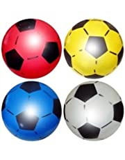 """SourceDIY PVC Sports Shoot Football 25CM or 8.5"""" (Deflated) Party Filler, Suitable for (Pack of 4)"""