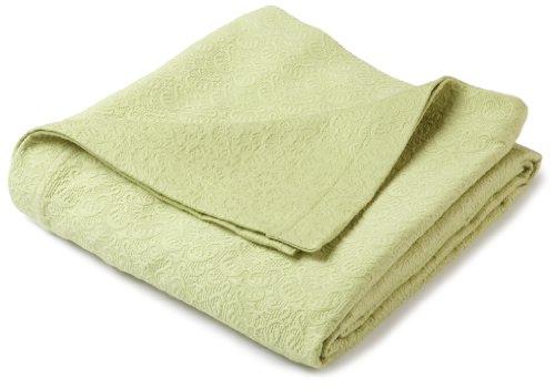 Pinzon Avalon Matelasse Jacquard Coverlet - Twin, Green