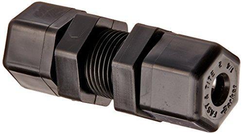 parker-hannifin-p4bu4-fast-tite-polypropylene-bulkhead-union-fitting-1-4-compression-tube-x-1-4-comp