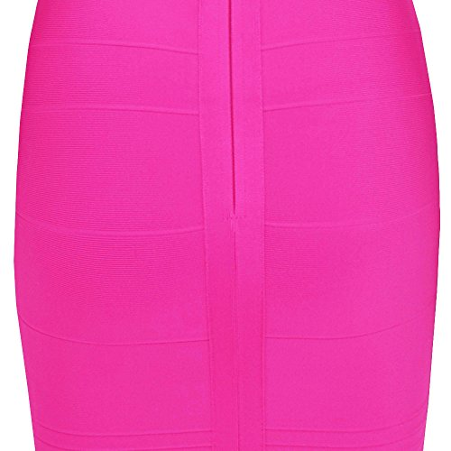 Mini Women's Strapless Sexy Bodycon Brillante Rosa Dress Hlbandage Bandage PZxFw4gtwq