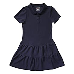 French Toast Girls' Ruffle Pique Polo Dr...