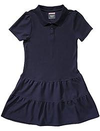 Girls' Ruffled Pique Dress