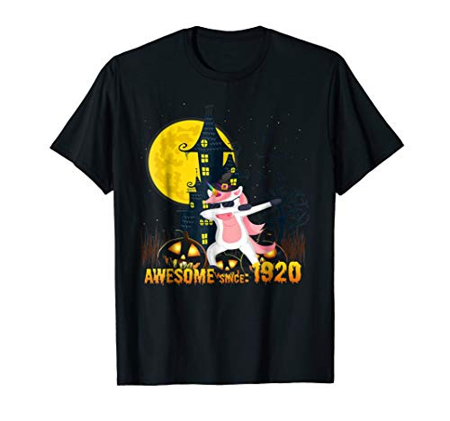 Awesome Since 1920 98th Birthday Unicorn funny Halloween