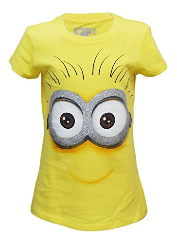 [Despicable Me Adorkable Minion, Girls Fitted Youth T-Shirt, Small (Size 4-5)] (Despicable Me Glasses)