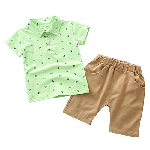 BAOBAOLAI Baby Boys Summer Outfits Sleeveless Top Shirt + Shorts Clothes Set
