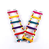 TOWERPRO Bird Toy Pets Toy For Bird Canary Parrot Macaw Mouse Rat Hamster Swings Ladders / Bridge / Stairs For Small Animals Pet Trainning With 12 Colorful Steps