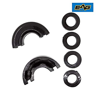 EAG Pair Black Isolator Fits 3/4 inch Tow D-rings Includes 2 Rubber Isolators and 4 Washers Shackle Isolator Clevis Kit: Automotive