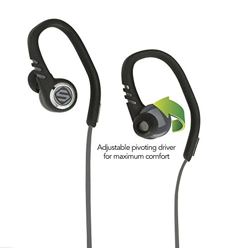 SCOSCHE SportFlex 3 Running Earbuds with TapIt Remote and Microphone - Splashproof and Dustproof IPX4 Rated Exercise...