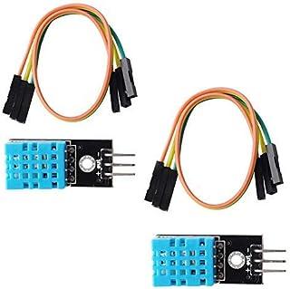 Module de capteur d'humidité de la température DHT11 (2 pièces), compatible avec Arduino Raspberry Pi Micro: Bit Microbit ESP8266 ESP-12E ESP32