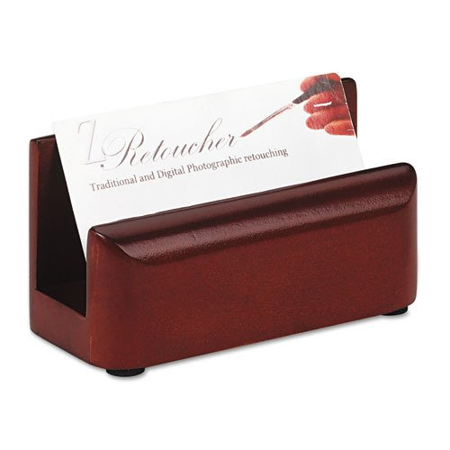 Eldon Staples - Eldon Wood Tones Business Card Holder, Holds 50 Cards, Mahogany (ELD23330) Category: Business Card Holders